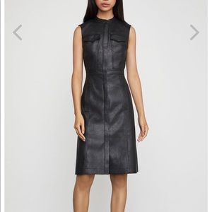 Alexandria faux leather dress